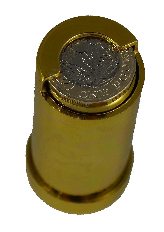 /£1 Pfund M/ünzenhalter vergoldet 8605G