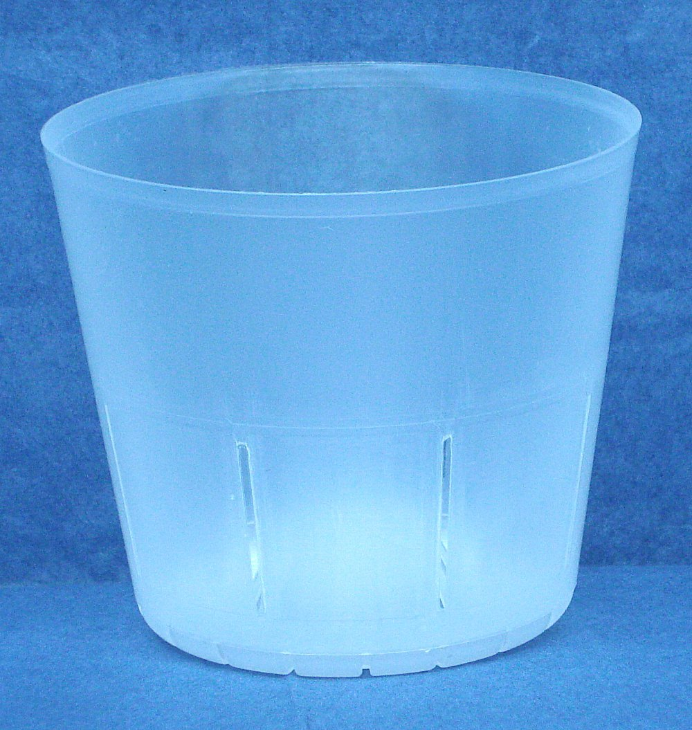Clear Plastic Pot for Orchids 4 inch Diameter - Quantity 5