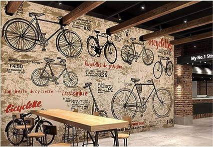 Weaeo Papel Pintado De Encargo De Los Niños Vintage Bicicleta 3D ...
