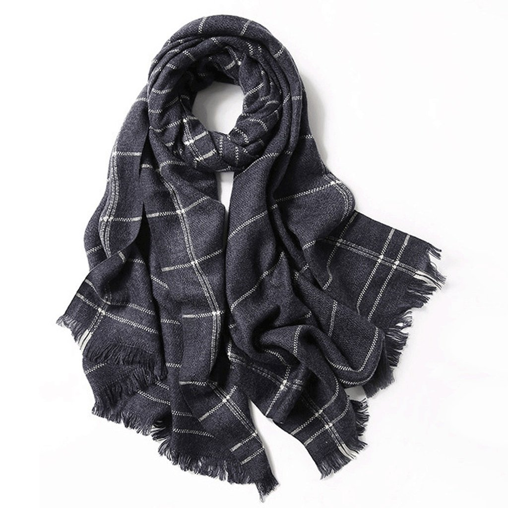D LBY Outdoor Sunscreen Shawl Scarf Dualuse Autumn and Winter Thick Warm Office Shawl Stripes Scarf (color   A)