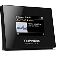 TechniSat - Radio digitale 110 IR, FM/DAB+, ricevitore con radio internet, streaming multi-room, connessione a Spotify, ideale da abbinare a impianti HiFi, Bluetooth, WLan, streaming audio UPnP, Nero [Germania]