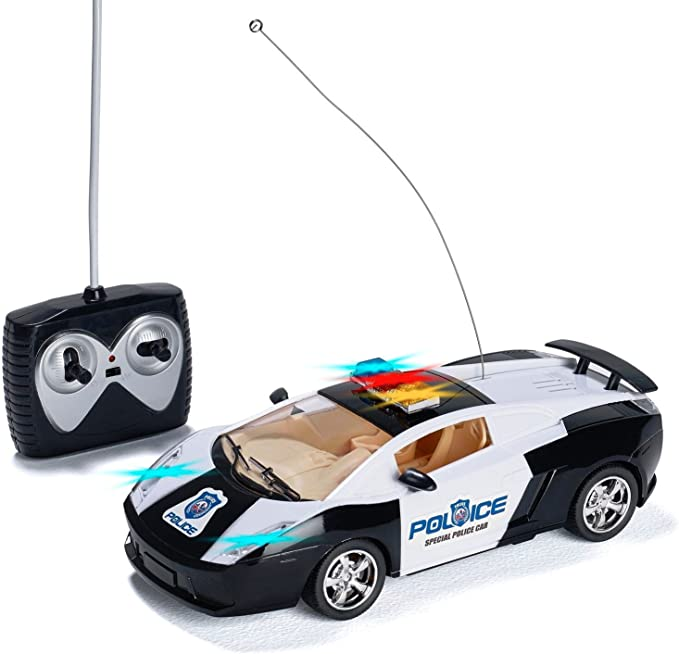 PREXTEX Coche De Policía Teledirigido Luces LED y Sonidos de Sirenas de Policía - Juguete Radio Control para Niños - Mejor Niños de 8 a 12 Años: Amazon.es: Juguetes y juegos