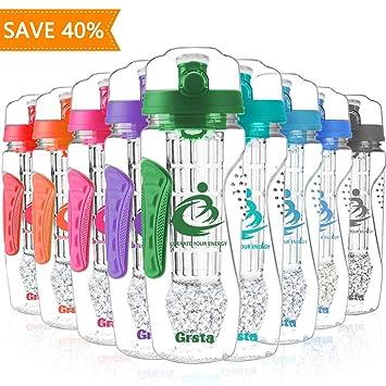 Botellas de Agua, Grande de 1 Litro con Filtro Infusor de Fruta ...