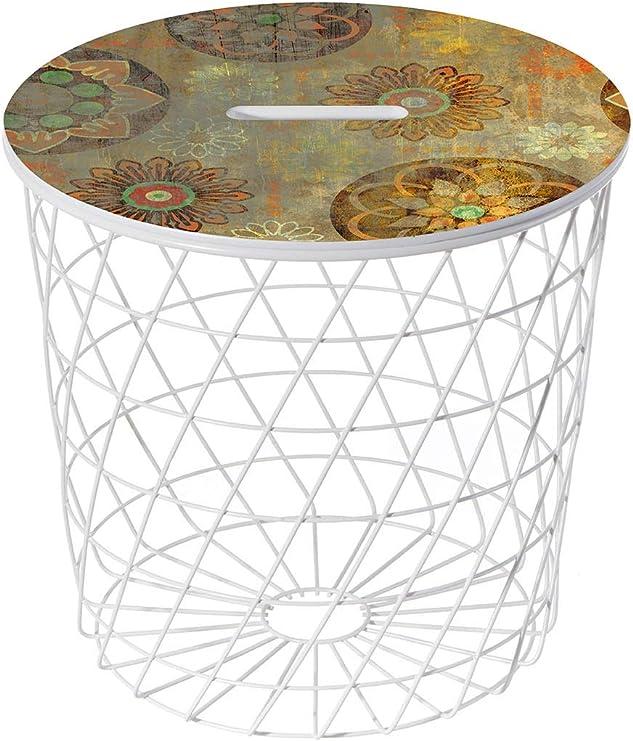 Lightclub-Shop.de Basket 02 - Mesa Auxiliar, diseño Vintage, Color ...
