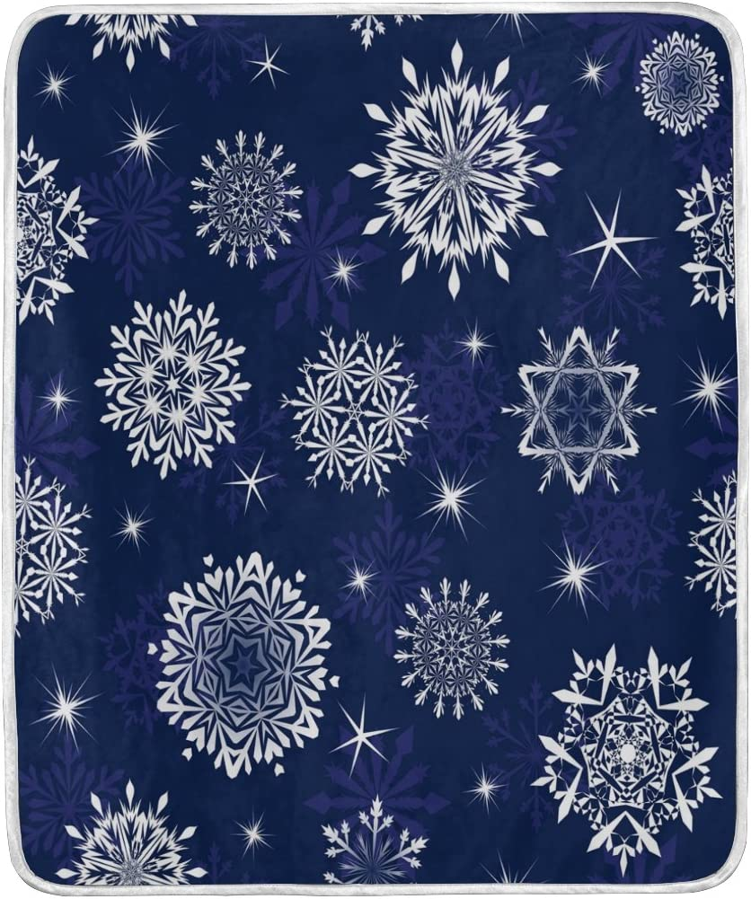 Amazon Com Alaza Abstract Snowflake Star Blanket Soft Warm Cozy Bed Couch Lightweight Polyester Microfiber Blanket Throw Size 50 W X 60 L For Kids Women Boy Home Kitchen