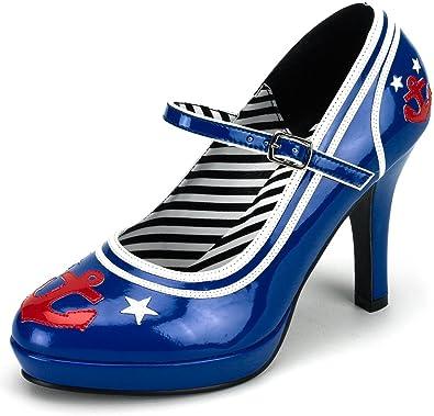 Platform Sailor Shoes Nautical, Boating, Naval Fancy Dress UK 3-9 ...