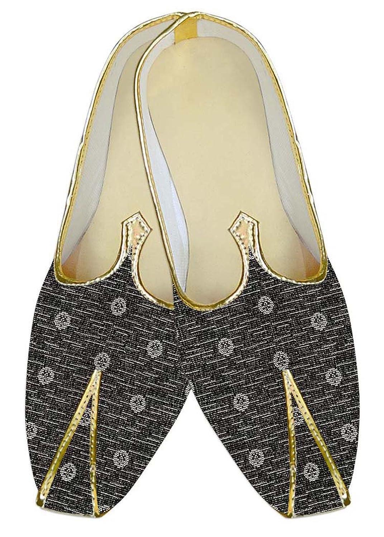 INMONARCH Poliéster Gris Hombres Zapatos de Boda Flor Blanca MJ10570 37.5 EU