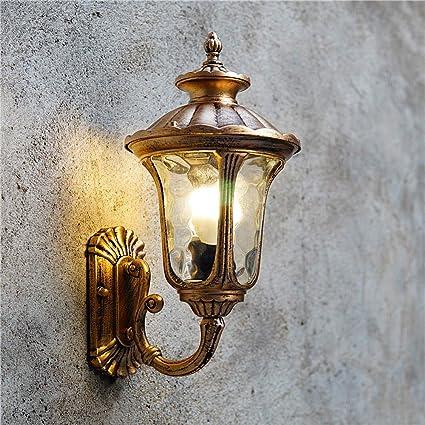 ce45ffe6de8b Vampsky American Village Glass Outdoor Wall Lamp Lantern Outside Retro IP23  Waterproof Garden Wall Light Wall