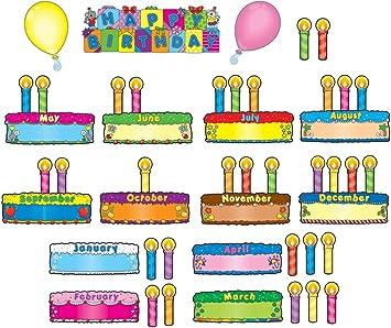 Amazon.com: Carson Dellosa Cumpleaños pasteles Bulletin ...