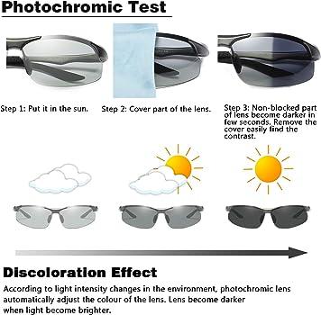 WHCREAT Gafas de Sol Polarizadas Fotocromáticas para ...