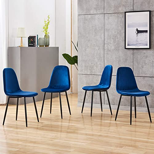 nozama Velvet Dining Chairs Set of 4 Modern Dining Chair