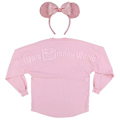 b93664dfbae Disney Parks Millennial Pink Minnie Mouse Ears   Spirit Jersey Set ...