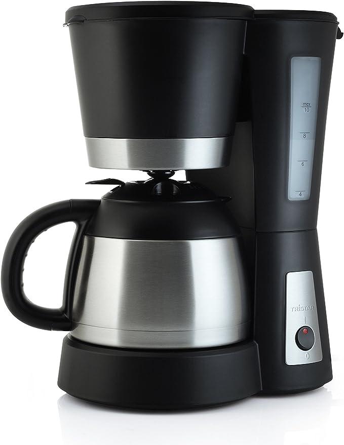 Tristar KZ-1224 - Cafetera de goteo (1 L, 800 W, en acero, jarra ...