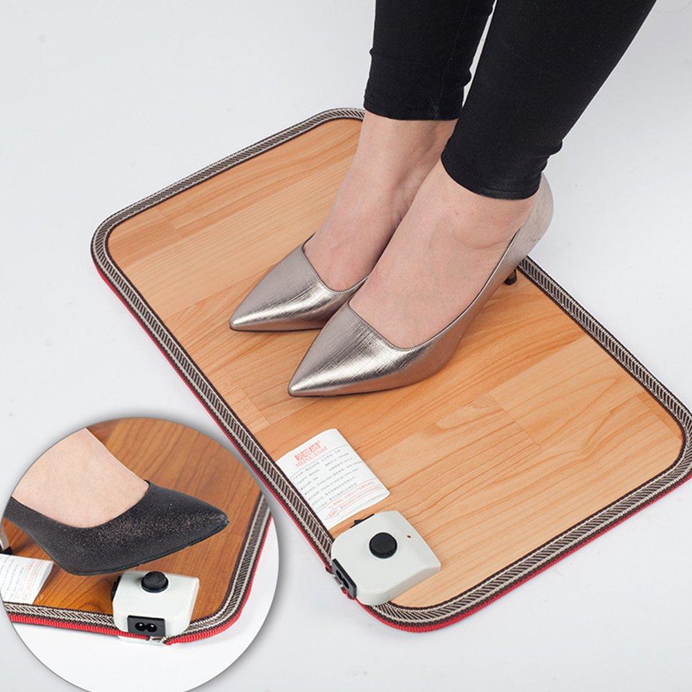Radiant Floor-Warming Mat,Floor Heating Film Foot Warming Heater for Under Desks Office, Artifact Plug Heating Mat Office Heating Pad Warm Feet Thermostat