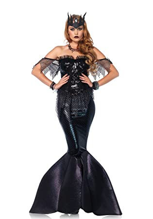 Leg Avenue 85536 - Dark Water Mermaid Damen kostüm, Größe S (Schwarz)
