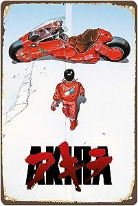 Dreamawsl Akira Japan Anime Poster Manga Film Movie Vintage Retro Poster - Retro Metal Tin Sign Poster Bar Cafe Bedroom Home Decor 12 x 8 inch (30 x 20 cm)