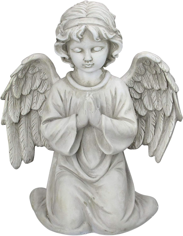 "Northlight 15"" Kneeling in Prayer Cherub Outdoor Garden Statue"