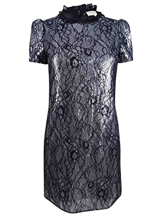 35b826e5fe1 Image Unavailable. Image not available for. Color  MICHAEL Michael Kors  Women s Sequined Lace Shift Dress ...