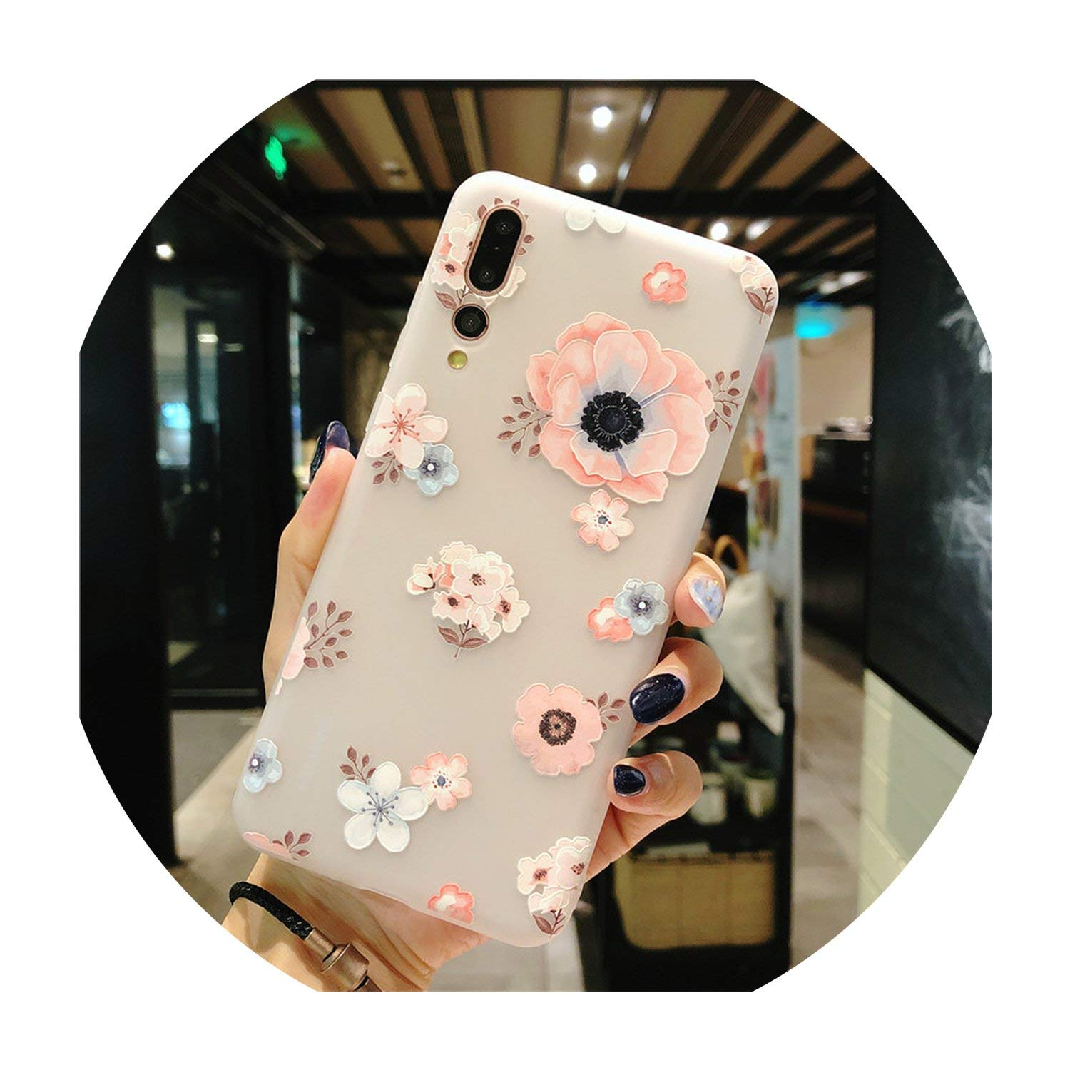 Amazon.com: P30 P30 Pro P30 Lite TPU Flower Phone Case ...