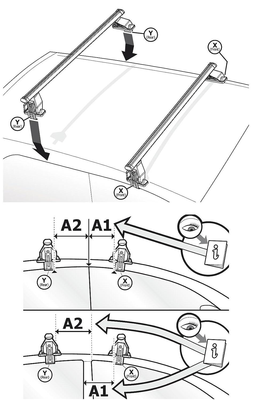 Dachtr/äger Menabo Tema f/ür BMW X4 Dachbox VDPBA320 320 Ltr Carbonlook abschlie/ßbar ab 2014 Aluminium F26 Kombi 5 T/ürer
