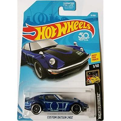 Hot Wheels 2020 Nightburnerz Custom Datsun 240Z 15/365, Blue: Toys & Games