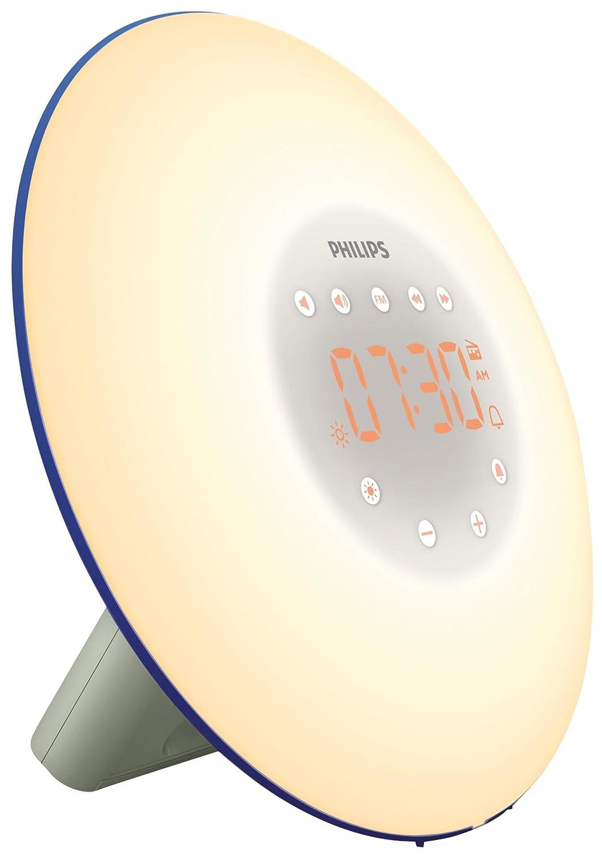 Philips HF Despertador mediante luz con simulacion de amanecer sonidos naturales y
