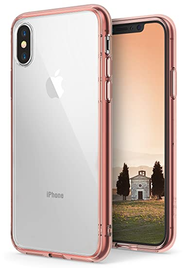 finest selection 685fa 2b4c2 Ringke Fusion Case Compatible with iPhone X, Clear Transparent PC Back TPU  Bumper [Drop Defense] Raised Bezels Scratch Protection Natural Form Qi ...