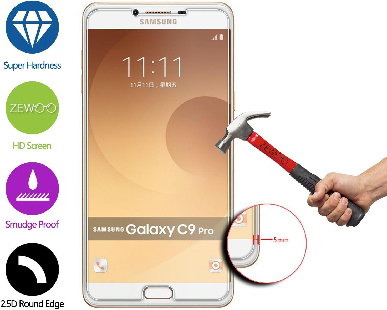 ZeWoo para Samsung Galaxy C9 Pro (C9000) (6 Pulgadas) Protector de Pantalla Cristal Vidrio Templado Premium (9H *2.5D, 0,33mm): Amazon.es: Electrónica