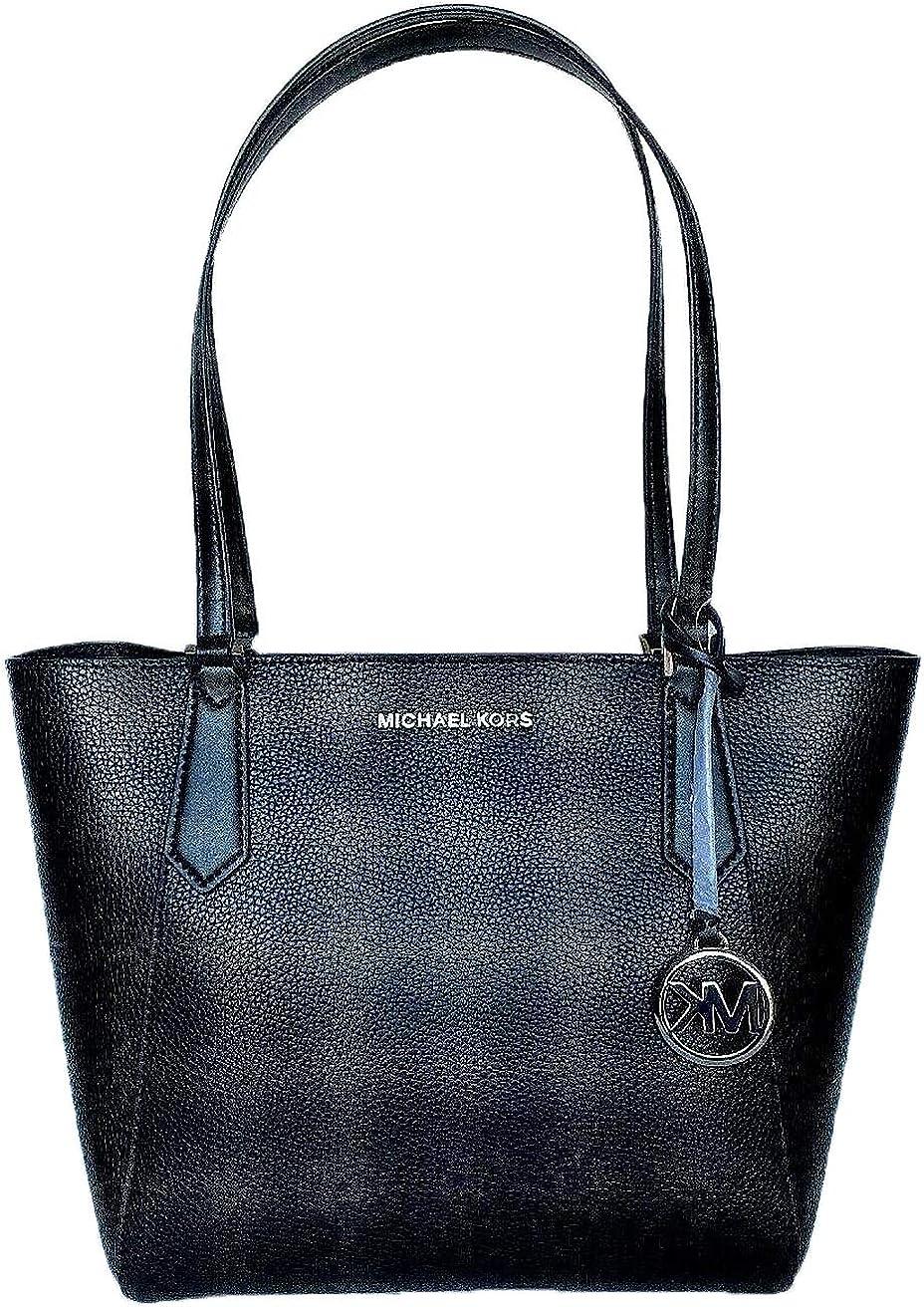 Michael Kors Women's Kiberly Small Bonded Black Leather Tote, O/S