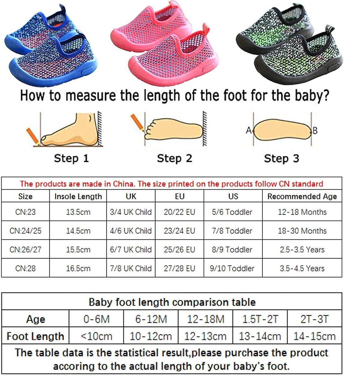 DEBAIJIA Scarpe per Bambini 1-4T Baby Walking Ragazza Ragazzo Bacon Trainer Morbida Suola Materiale Antiscivolo Mesh PVC Traspirante