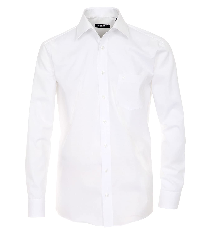 TALLA 50. Casa Moda Comfort Fit 006050 - Camisa de oficina para hombre, de manga larga, ajustada, no necesita planchado