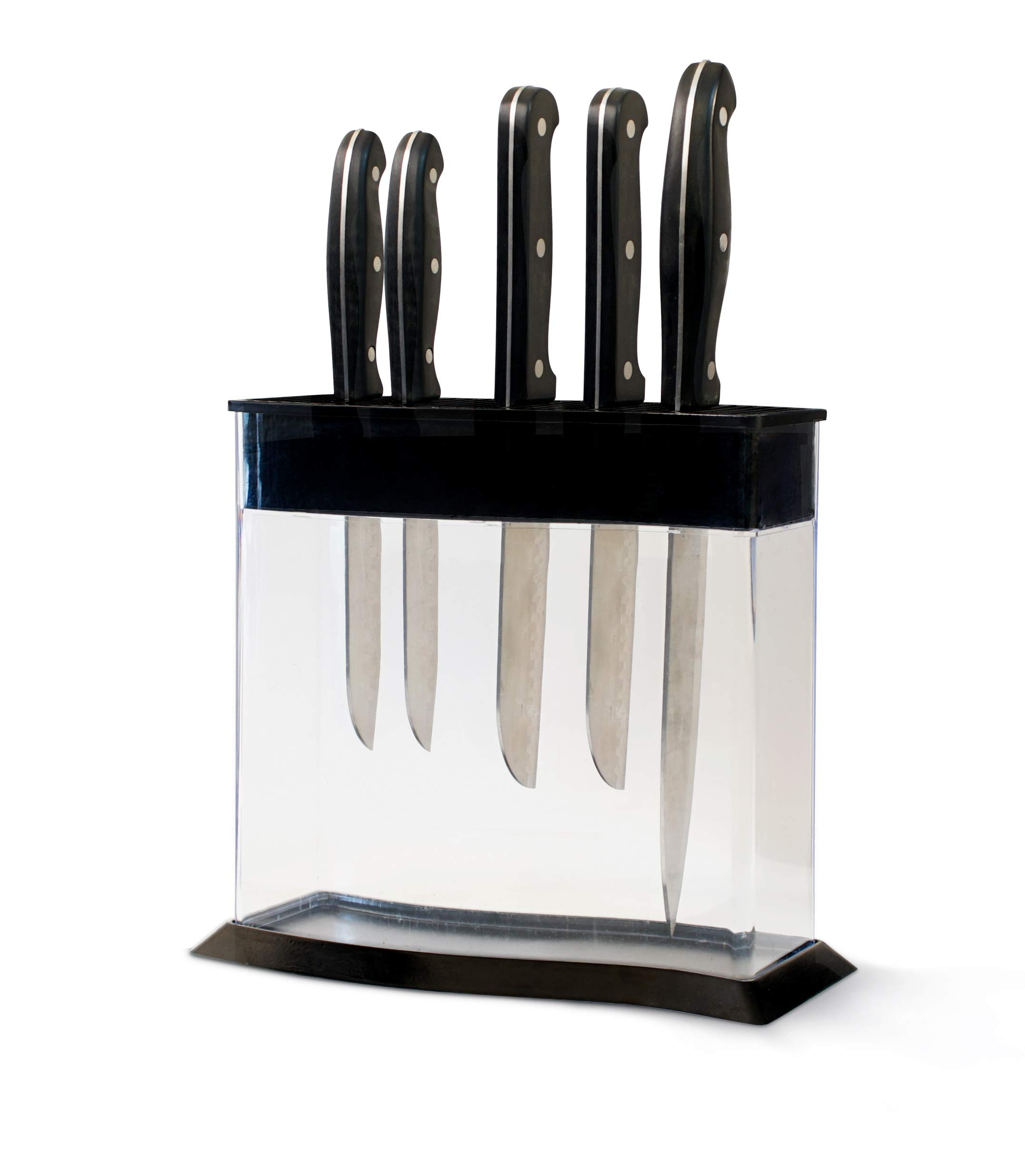 KNIFEdock WAVE by Storage Technologies. Revolutionary Kitchen Countertop Knife Storage. A beautiful way to display and identify each knife at a glance.The next generation knife block.(Holds 15 knifes)