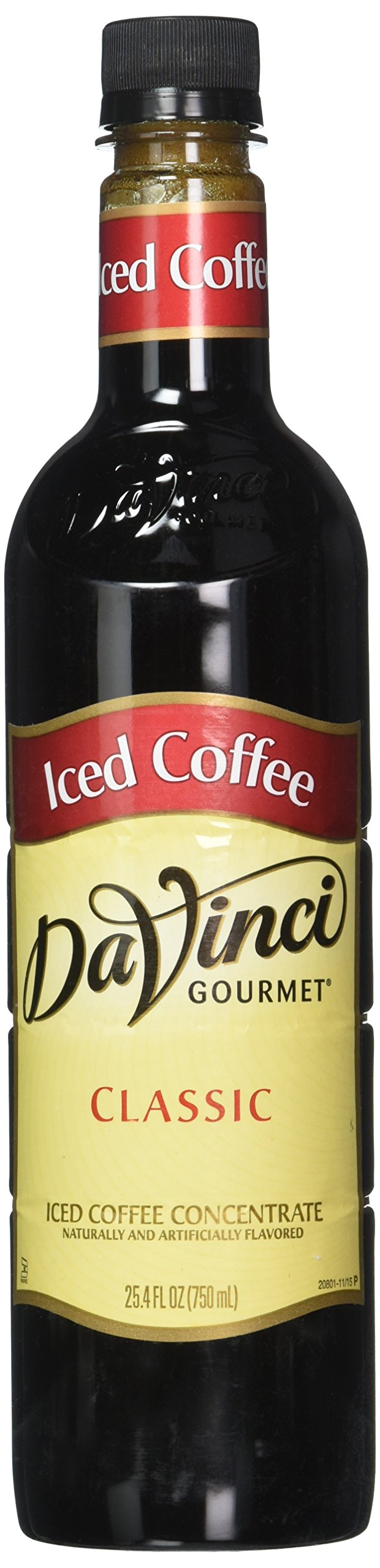 DaVinci Gourmet Iced Coffee Concentrate, 25.4 Bottle (Pack of 4)