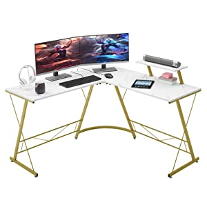 "Mr Ironstone L Shaped Desk 50.8"" Home Gaming Desk"
