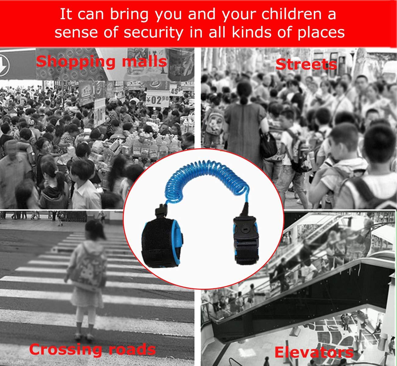 Arnes para Bebes y Ni/ños Rotaci/ón de 360 Grados Correa de Mu/ñeca Antip/érdida para Caminar y Compras 1.5M cuerda anti-perdida infantil