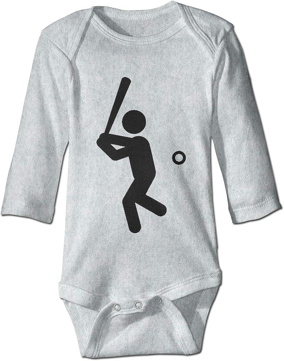 Marsherun Babys Toddler Baseball Batter Long Sleeve Bodysuit Clothes Playsuits