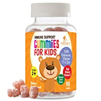 Kids Immune Support Gummies with Vitamin C, Echinacea and Zinc - Children's Support...