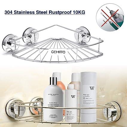Gemitto Bathroom Corner Shelf 304 Stainless Steel Bath Shower