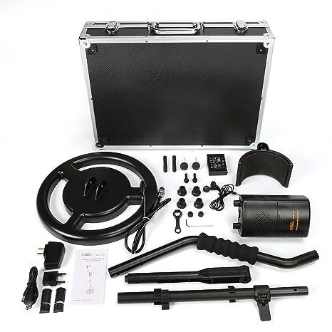JullyeleESgant Smart Sensor AS944 Detector de Metales subterráneo Profesional Buscador de Plata Dorado Ajustable Treasure Hunter