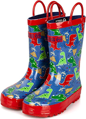 Kids Comfortable Waterproof Rain Boots Fashion Rubber Shoes Easy to Clean