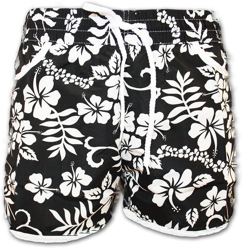 A-Express Donne Ragazze Fiore Floreale Spiaggia Estate Pantaloncini Pantaloni Caldi