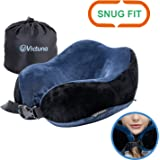Victuna Neck Pillow for Airplane Travel, Upgrade Memory Foam Travel Pillow, with Adjustable Buckle to Ensure 360 Head Neck Chin Support