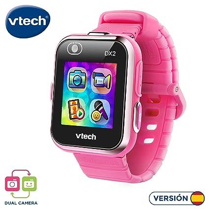 VTech 193857 Kidizoom Smart Watch DX2 - Reloj inteligente para niños con doble cámara, color rosa