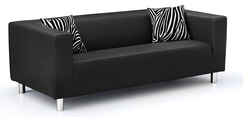 3-Sitzer Sofa Cube 183 x 85 cm, PU, schwarz