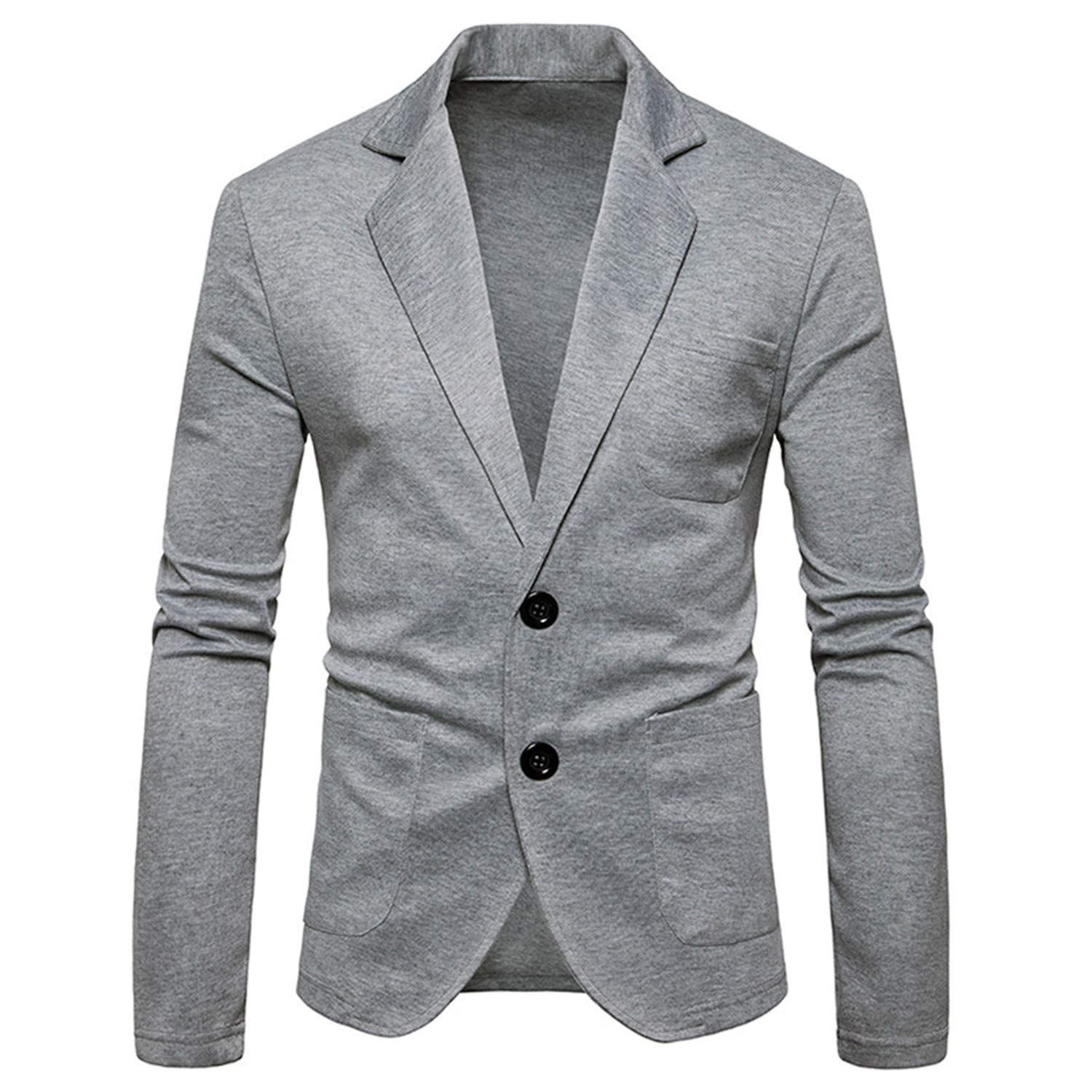 Mens Knitting Suits Blazers Casual Slim Fit Single Breasted Two Button Suit Blazer Jacket Men Terno Masculino 2XL at Amazon Mens Clothing store: