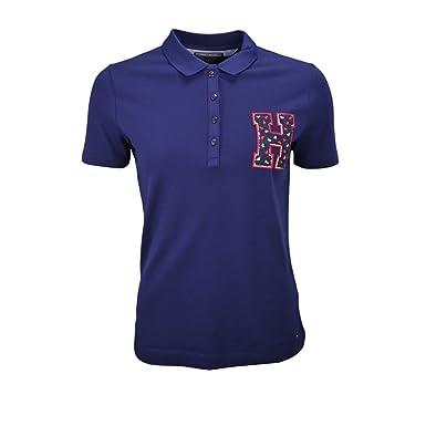 Tommy Hilfiger - Polo - Blusa - para Mujer Azul L: Amazon.es: Ropa ...