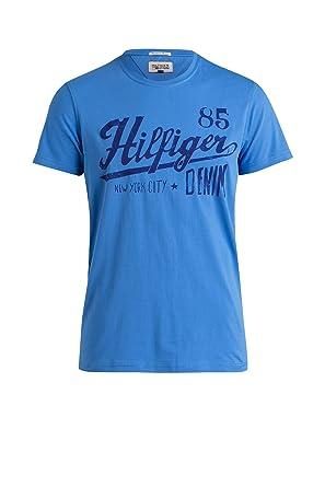 c486ad66 Tommy Hilfiger Denim Mens Federer New York 85 T-Shirt Blue Medium: Amazon.co .uk: Clothing