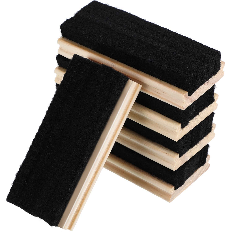 5 Pièces Tableau d'Effaceur de Feutre Effaceur de Tableau Effaceur de Tableau Noir sans Poussière pour la Craie et Nettoyage du Tableau Effaçable à Sec
