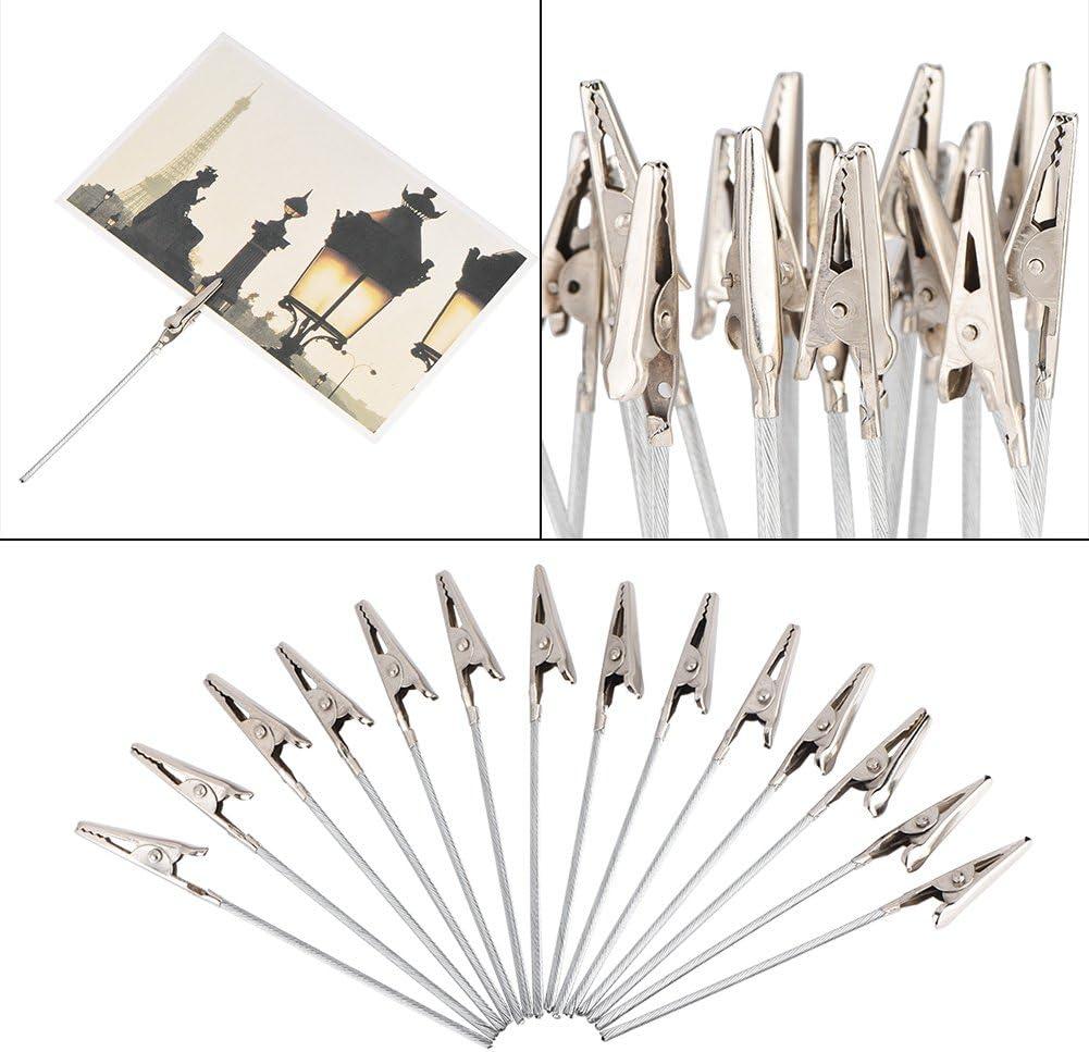 50pcs Photo Clip Holders Memo Clip DIY Craft Line Clip Card Photo Memo Clip Clip Decorative Accessories