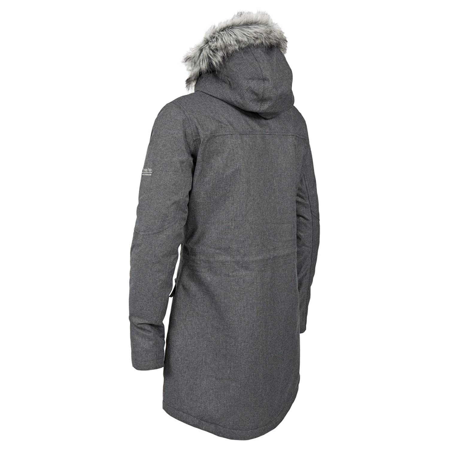 Womens Trespass Thunderstorm Waterproof Parka Jacket (XS, Silver ...